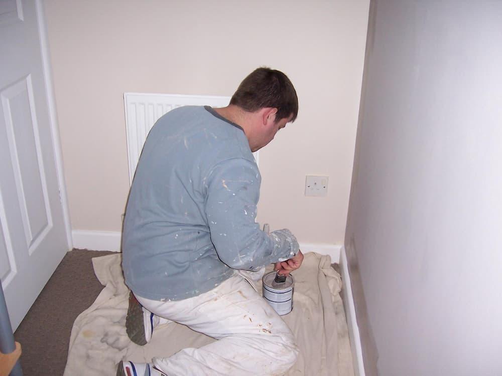 darren painting a wall